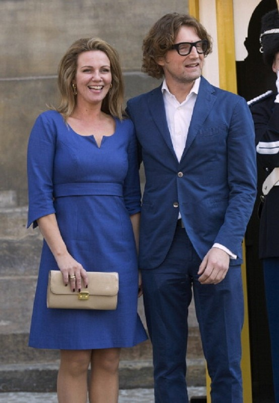 Princess Annette and Prince Bernhard of The Netherlands leave the Royal Palace after brunch the day after the Inauguration of King Willem