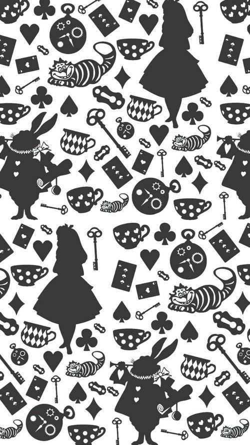 Imagem de alice in wonderland, background, and wallpaper