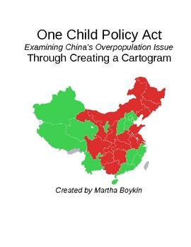 best one child policy images  geography s one child policy population comparison cartogram