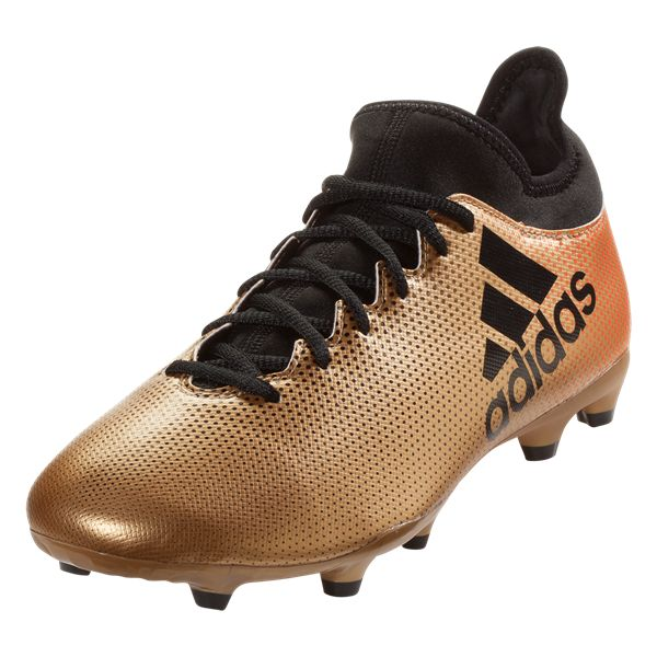 Buy adidas X 17.3 FG Soccer Cleat - Gold Metallic/Black/Solar Red from SOCCER.COM. Best Price Guaranteed. Shop for all your soccer equipment and apparel needs.