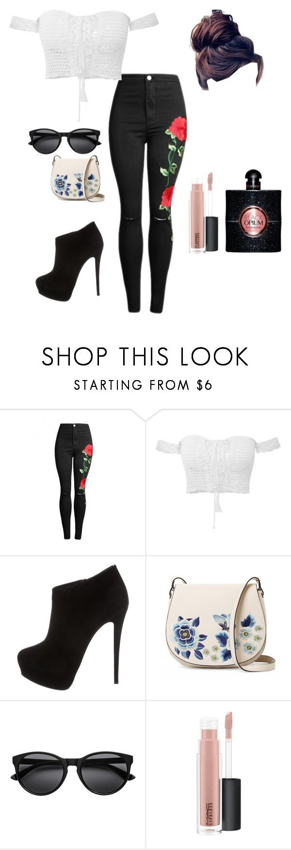 """Untitled #112"" by trinitymahomie on Polyvore featuring Giuseppe Zanotti, French Connection, MAC Cosmetics and Yves Saint Laurent"