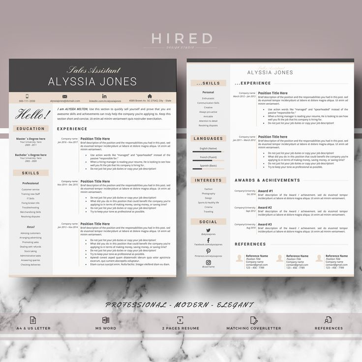 19 best Minimalist Resume / CV Templates images on Pinterest ...