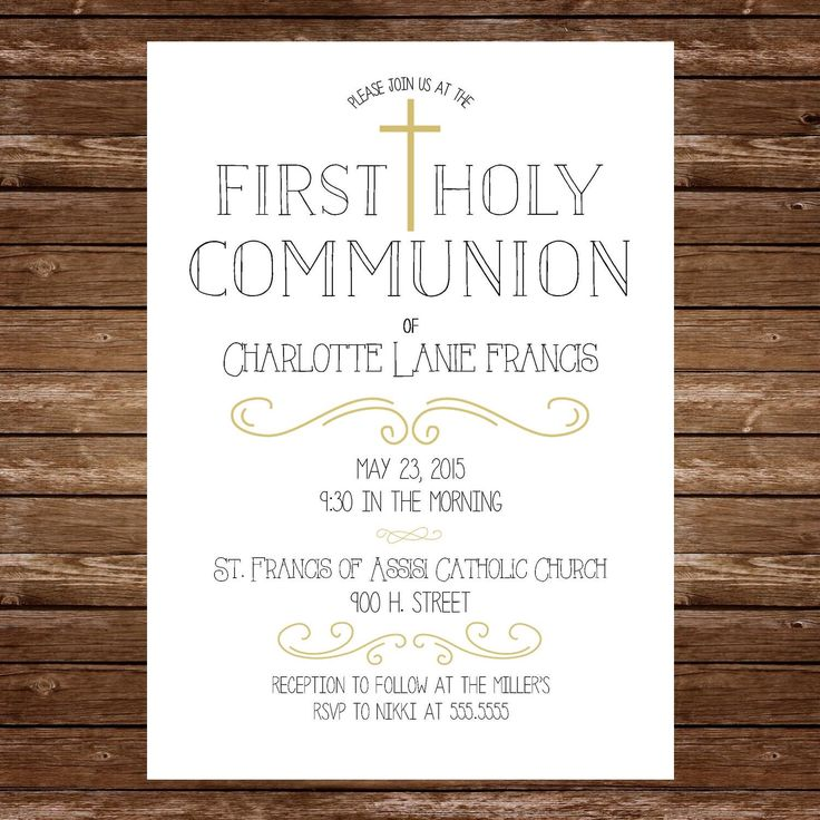Printable First Holy Communion Invitation by LucyNicoleToo on Etsy https://www.etsy.com/listing/236385429/printable-first-holy-communion