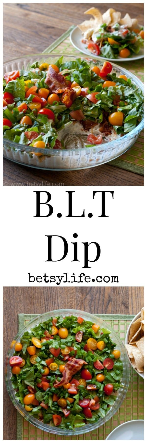 Bacon, lettuce and tomato in a super simple dip recipe!