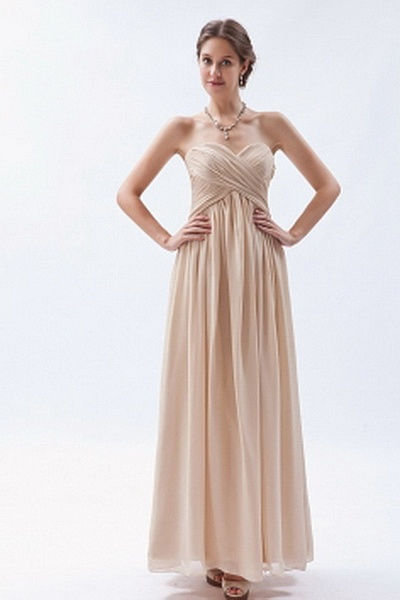 Champagne A-Line Sweetheart Cocktail Dresses ted1892 - SILHOUETTE: A-Line; FABRIC: Chiffon; EMBELLISHMENTS: Ruched; LENGTH: Floor Length - Price: 143.9300 - Link: http://www.theeveningdresses.com/champagne-a-line-sweetheart-cocktail-dresses-ted1892.html