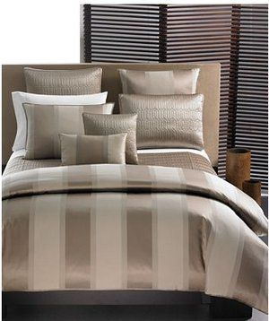 hotel collection bedding bronze wide stripe king duvet cover new by hotel collection