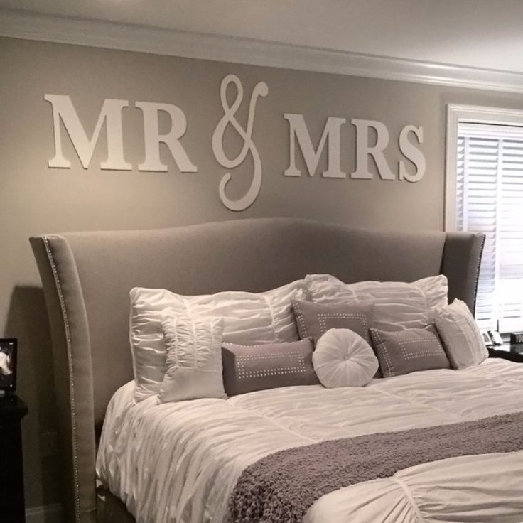 mr mrs wall signs king size above bed decorking. beautiful ideas. Home Design Ideas