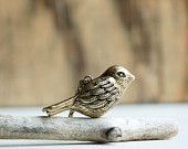 Chant oiseau sifflet collier Vintage Style laiton Antique oiseau pendentif automne mariage demoiselle d'honneur Gold BIRD