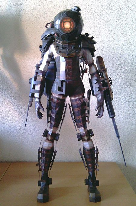 Big Sister from Bioshock 2 | 35 Incredible Papercraft Models From The Gaming World