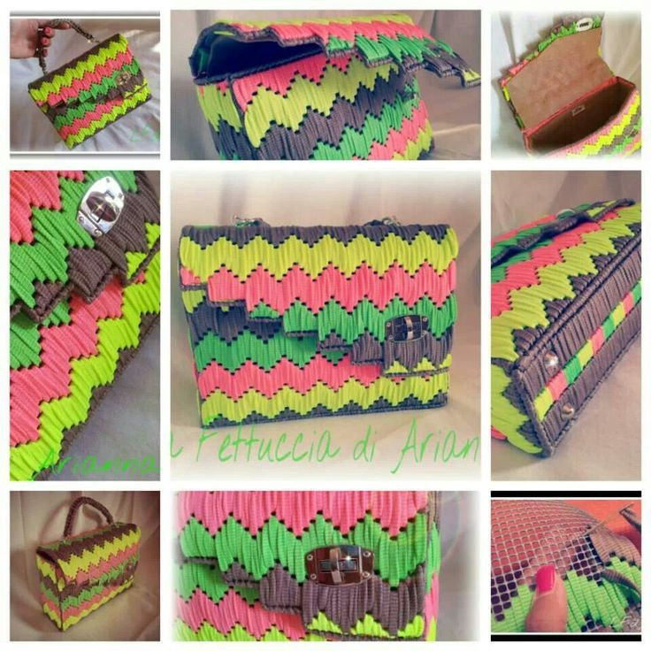 17 Best images about Borse rete on Pinterest  Paper weaving, Trapillo and Bags