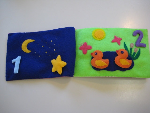 School Quiet Book 6 pages, Felt Math Book, Toddlers and Preschool, Kids Gift. $75.00, via Etsy.