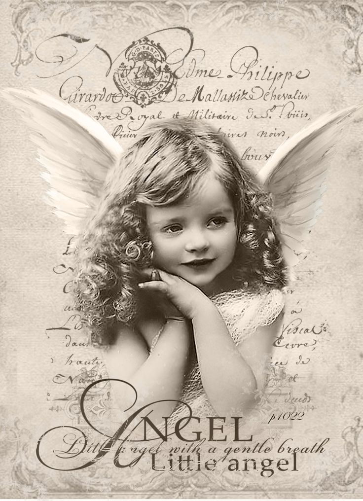 New Vintage Angel Digital collage P1022 free for personal use