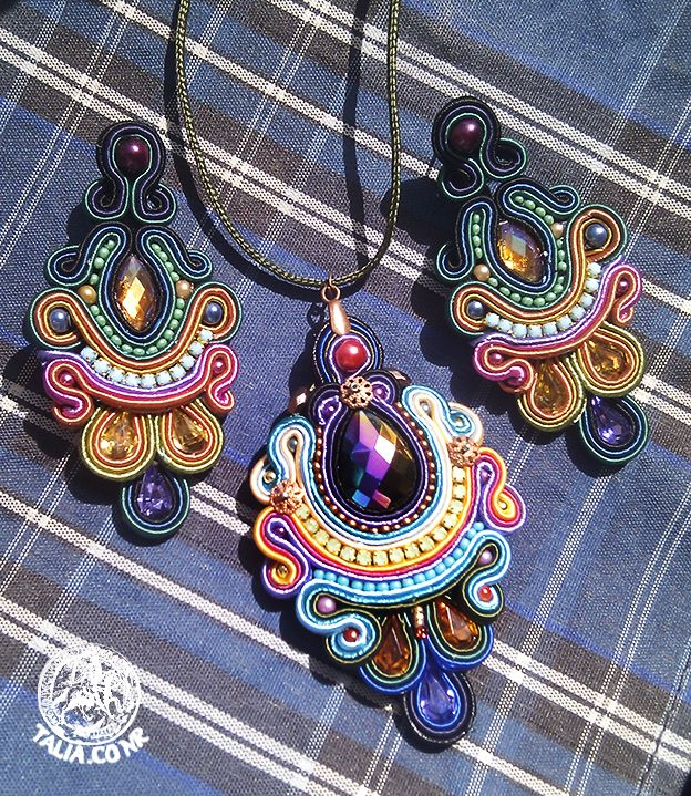 Rainbow soutache set