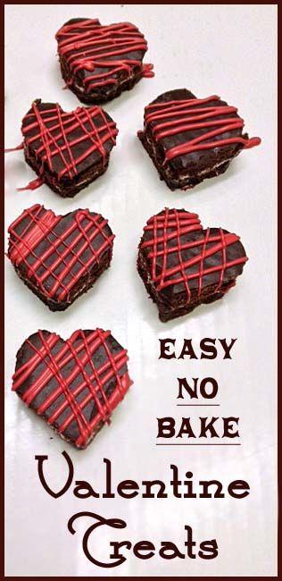 Easy NO BAKE Valentine Treats
