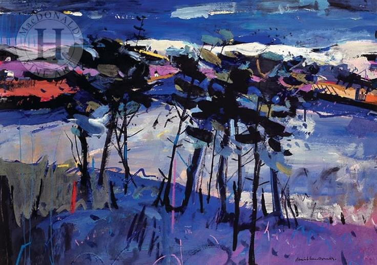 Winter Scene at Loch Awe, Scotland by scottish artist Hamish MacDonald.