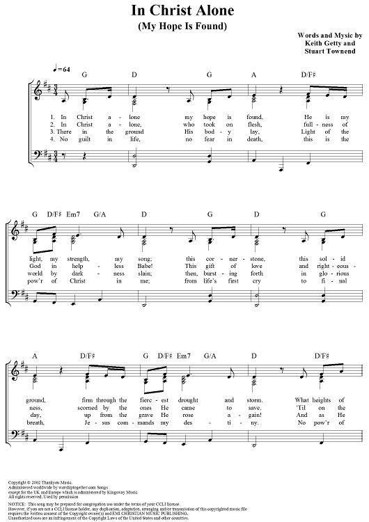 In Christ Alone Owl City Sheet Music Ibovnathandedecker