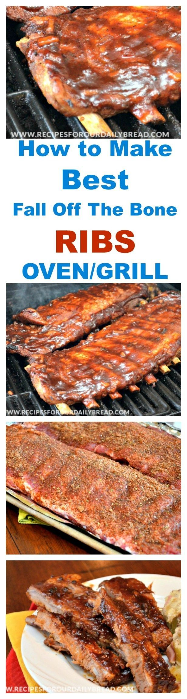 This combination of cooking the ribs low and slow in the oven and then on the grill will make perfect Lip Smacking, Finger Licking, Fall off the Bone Ribs.