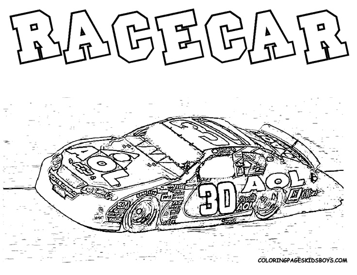 nascar coloring pages to print yahoo image search results - Nascar Coloring Pages