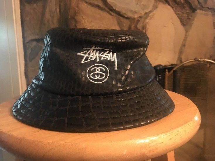 STUSSY BUCKET HAT (BRAND NEW) BLACK SNAKE SKIN #Stussy