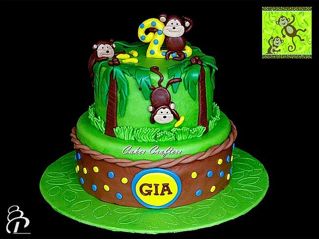 Jungle Monkey Cake by Cakes Crafters, via Flickr
