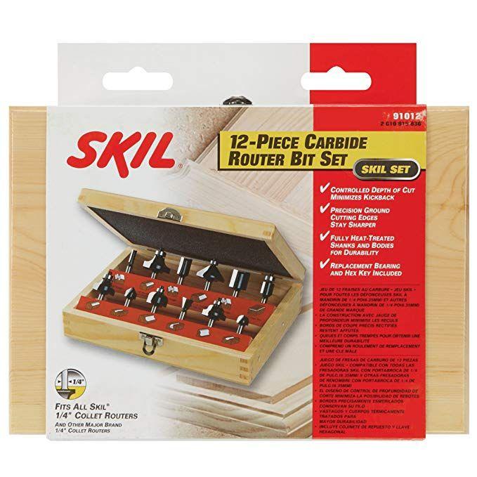 Skil 91012 12pc Router Bit Set Review Router Bit Set Router Bits Router