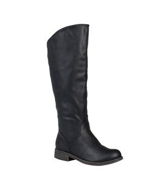 5ac44c95a8dc Women's Wide Calf Slouchy Round Toe Boots | Walmart | Boots, Shoes ...