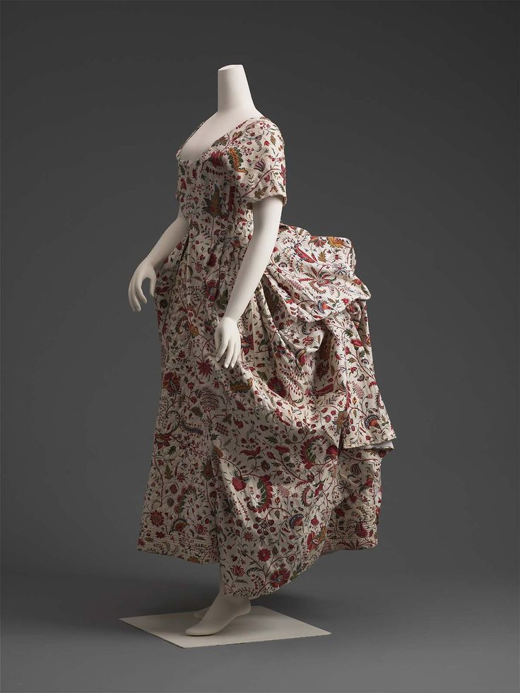 Robe à l'Anglaise, about 1785, altered at a later date | Museum of Fine Arts, Boston