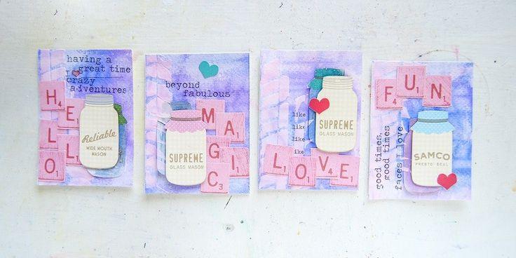 Μία πολύ όμορφη ιδέα για δώρο είναι οι μικρές καλλιτεχνικές κάρτες. Δείτε την κατασκευή των συγκεκριμένων καρτών.