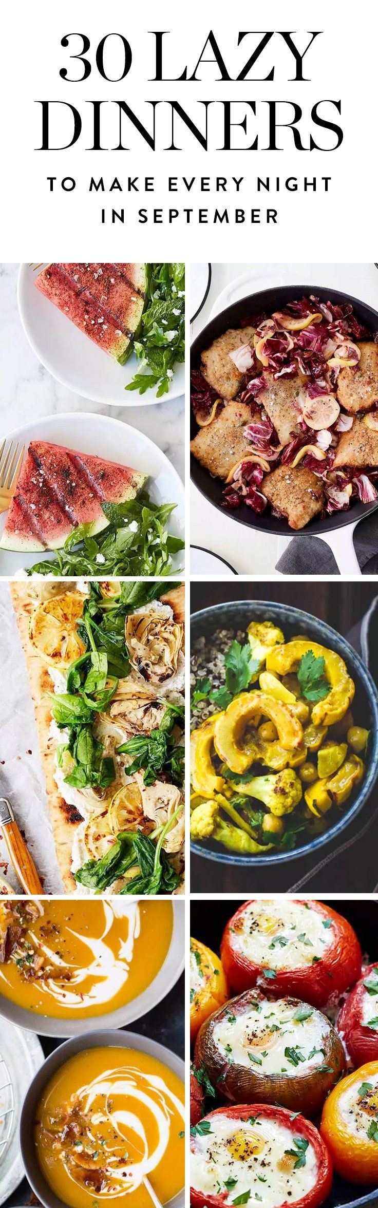 Here are 30 ridiculously easy fall dinner recipes to make every day this month ...because we care.