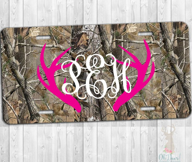 Personalized License Plate, camo license plate, Personalized car tag, monogrammed car tag, Front license plate by Ohdeergifts on Etsy