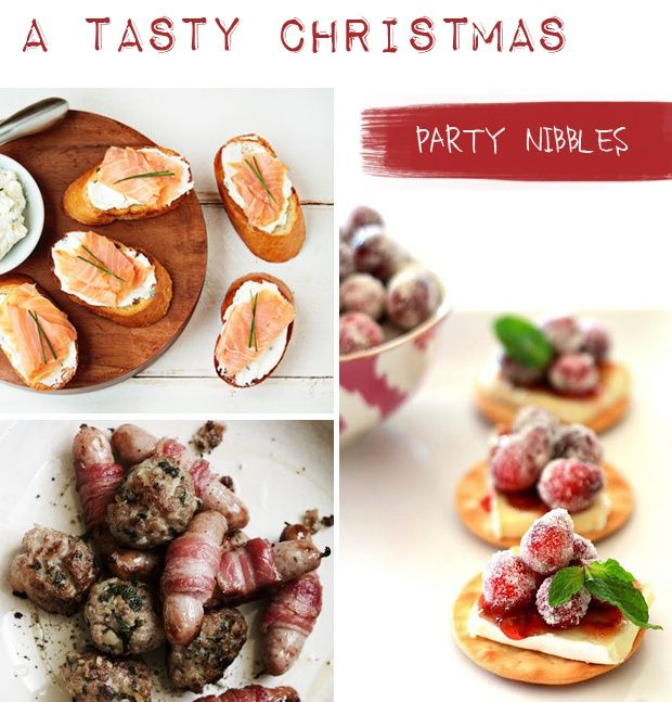 Tipples and Treats: The Christmas Edition Party Nibbles on Pocketful of Dreams    Christmas Canapes, Cranberry and Brie, Party Food, Party Nibbles, Pigs in Blankets, Salmon and Goats Cheese, Tipples and Treats