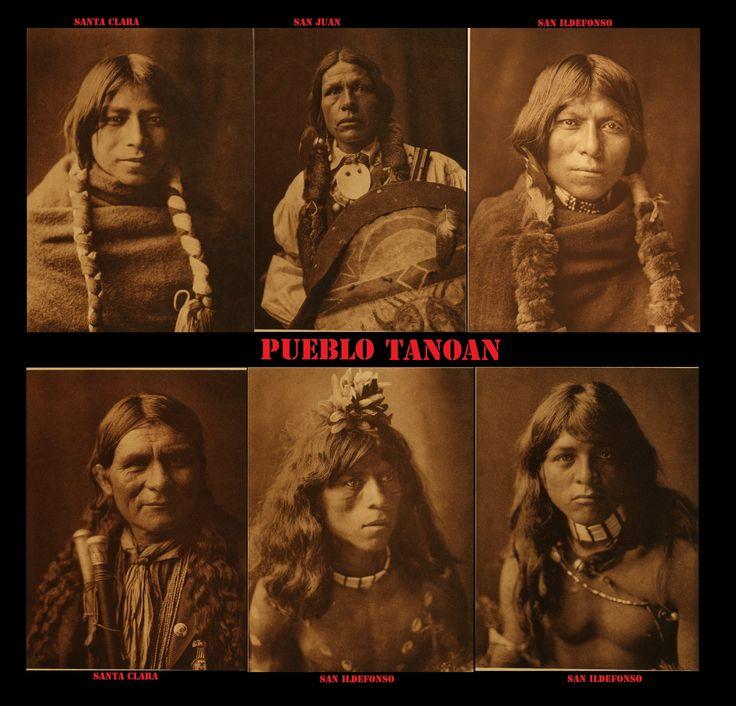 Tra i Tanoan (Tiwa,Tewa, Towa) gli uomini portavano i capelli lunghi o sciolti o divisi in 2 trecce. Quest'ultime di solito venivano avvolte con dei lacci. Anche in questo caso si nota un'influenza dalla cultura delle Praterie.