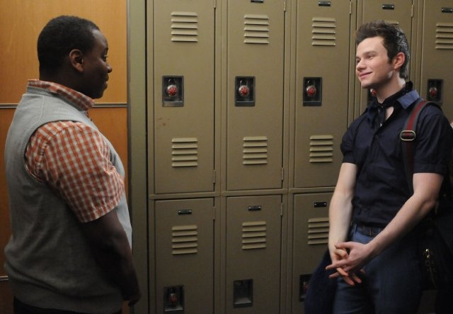 Still of Chris Colfer and Alex Newell in Glee