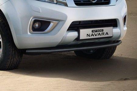 Nissan NP300 Navara (D23M) Front Styling Bar - Stainless Steel, Black DC - KE5404K02A