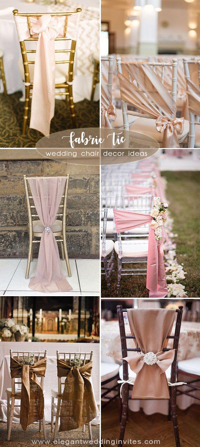creative wedding chair tie decortion ideas  Wedding chairs