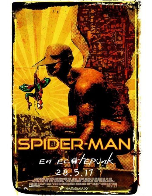 """Hace un par de semanas me pidieron una ilustración cuyo tema era """"Spider-man en Ecatepec"""" para Ecatecomic 2017 y tuve que reciclar una vieja ilustración que hice de spidey y montarla sobre el infame """"memín cagón"""" que construyeron sobre la carretera México Pachuca. #ecatepec #spiderman #mexico #santarriaga #hgsantarriaga"""