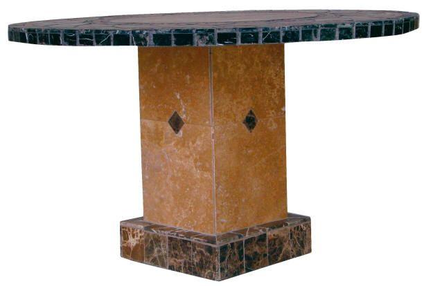 Troy Stone Mosaic Tile Table Base