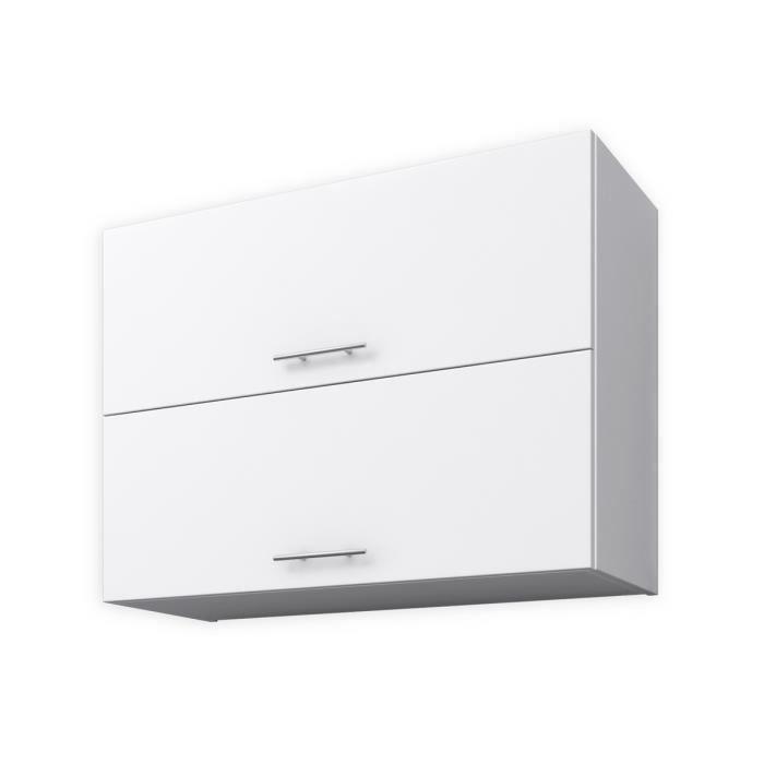 OBI Meuble haut de cuisine L 80 cm - Blanc