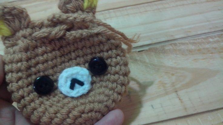 DIY: Monedero de Oso, Osito Rilakkuma - Tutorial paso a paso monedero tejido a crochet - YouTube