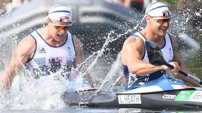 Liam Heath and Jon Schofield claimed second in a tight finish in the 200m kayak double sprint.