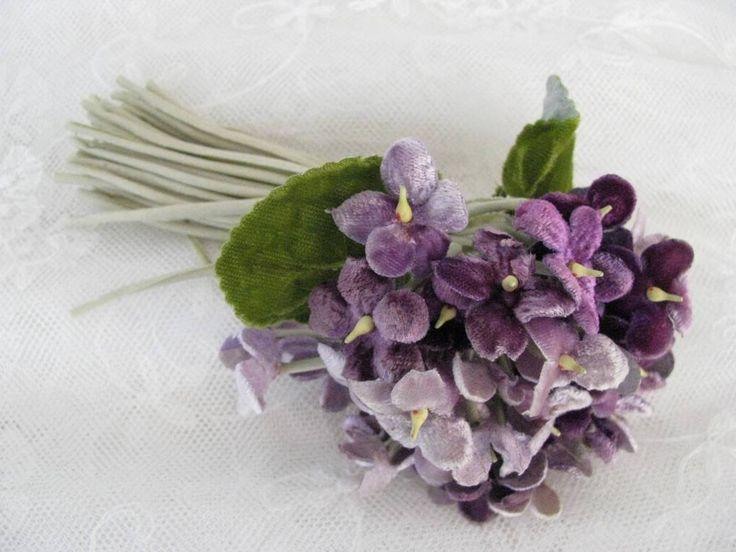 ~ beautiful vintage millinery violets