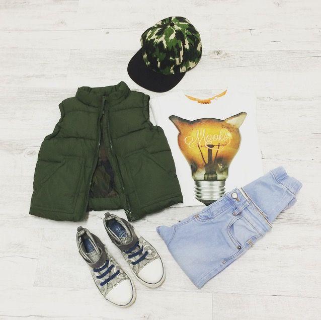 Kickin In Camo - Louis wears: Hat: Munster Kids, Jeans: Cotton On Kids, Puffer Vest: Cotton On Kids, T-Shirt: Mooks, Shoes: Pumpkin Patch