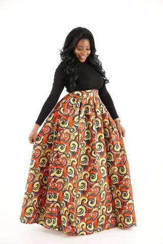 Basmati African Maxi Skirt - HouseOfSarah14