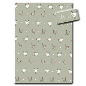 Multi Chicken & Spot Wrapping Paper by Sarah Boddy