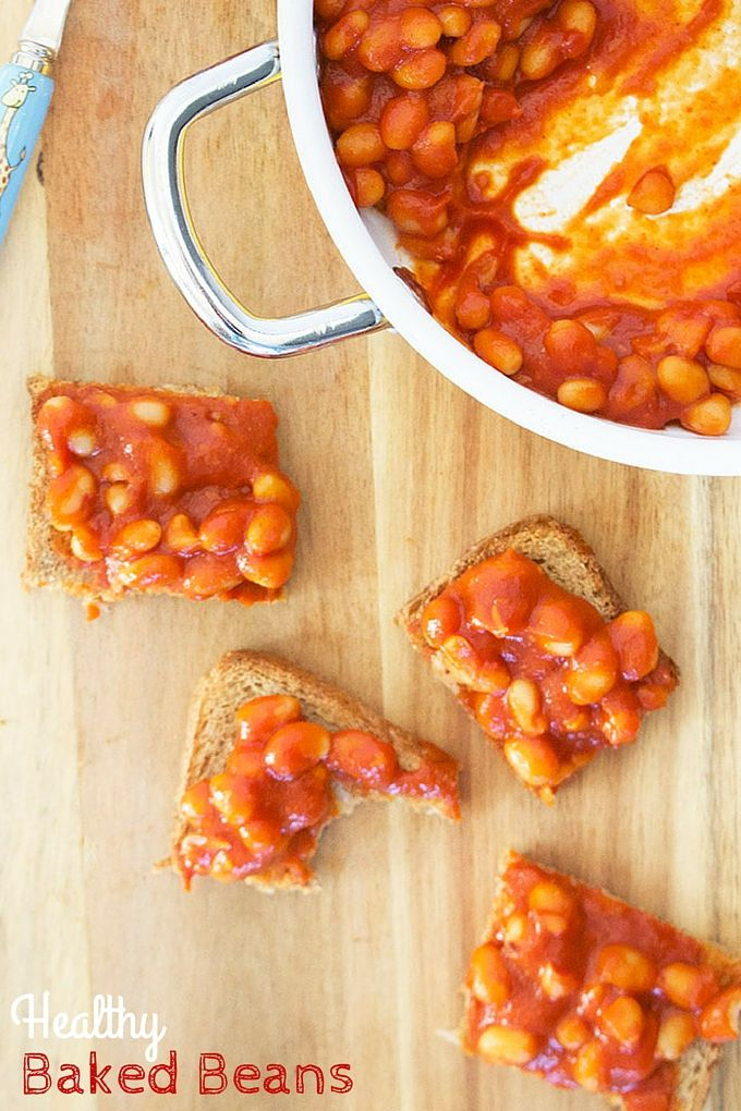 These healthy baked beans are made without any added sugar or salt. They are so easy to make and a much healthier alternative to the tinned variety.