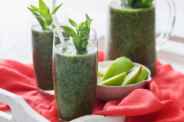 Get a turbo-charged hit of greens every morning with this delicious smoothie. Adapt the recipe to suit whatever's in season.