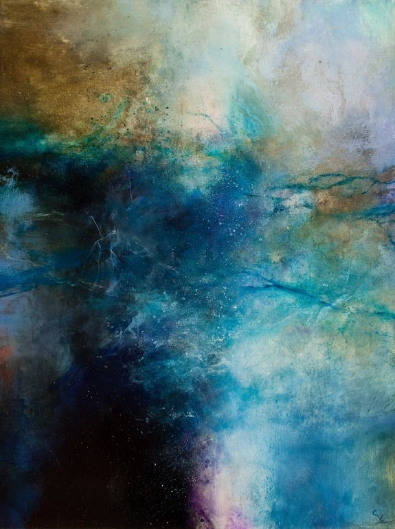 "Saatchi Online Artist: Chris Veeneman; Oil, 2012, Painting ""Blue Turbulence """