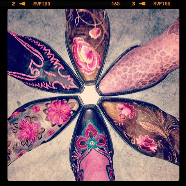 Pink Cowboy Boots by Old Gringo at RiverTrail in North Carolina. #cowboyboots #pink #oldgringo