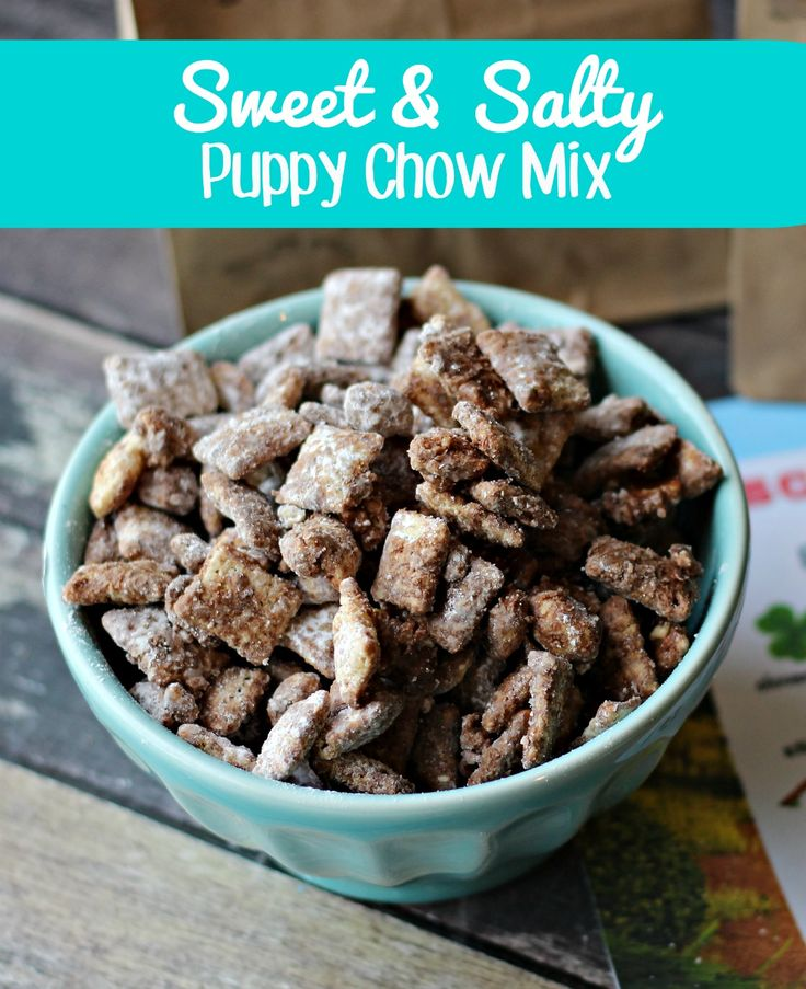 Awesome movie snack idea!  Sweet Salty Puppy Chow Mix a la Mr. Weenie from Open Season: Scared Silly movie OpenSeason4 (Client)