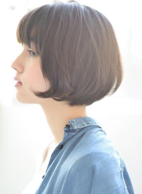 2018 黒髪 ショートマッシュボブ(髪型ボブ)